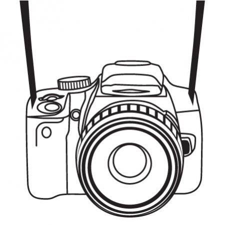 Camera clipart line art. Free cliparts strap download