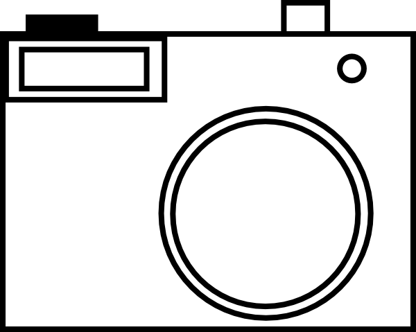 Simple at clker com. Camera clip art line drawing