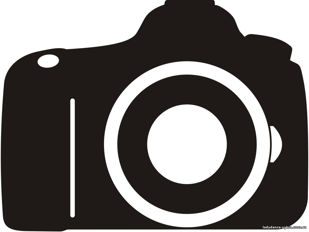 Camera clip art logo. Photography digital slr video