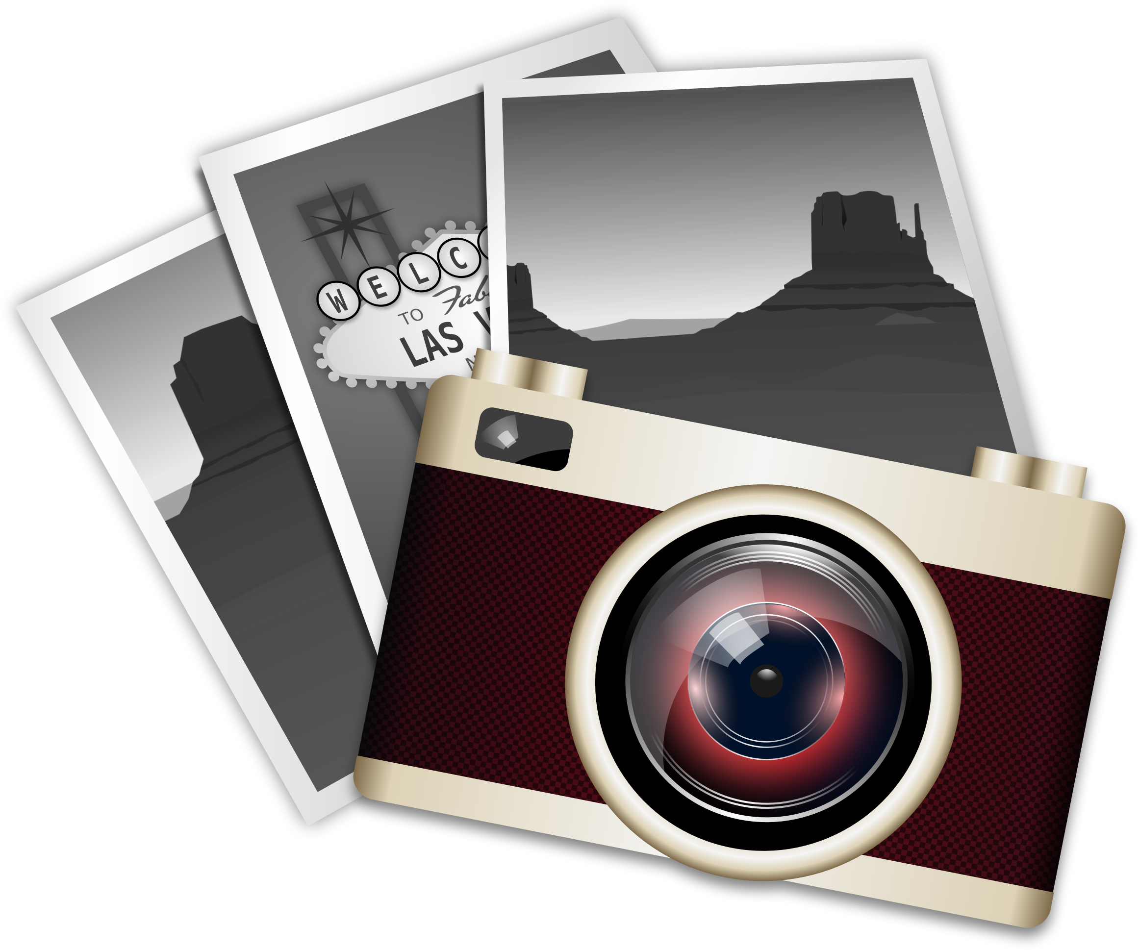 Vintage camera icons png. Photography clipart cmera