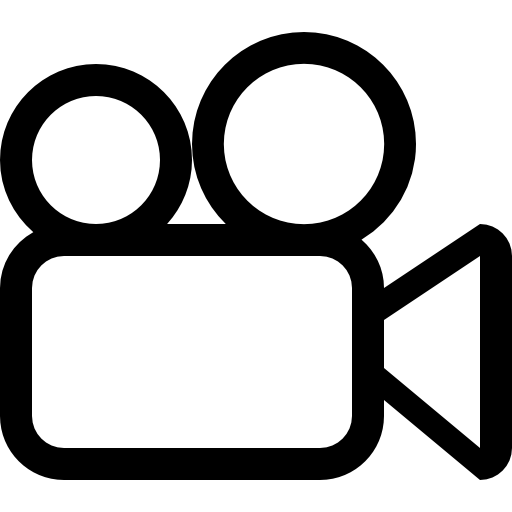 Camera clip art outline. Video free cinema icons