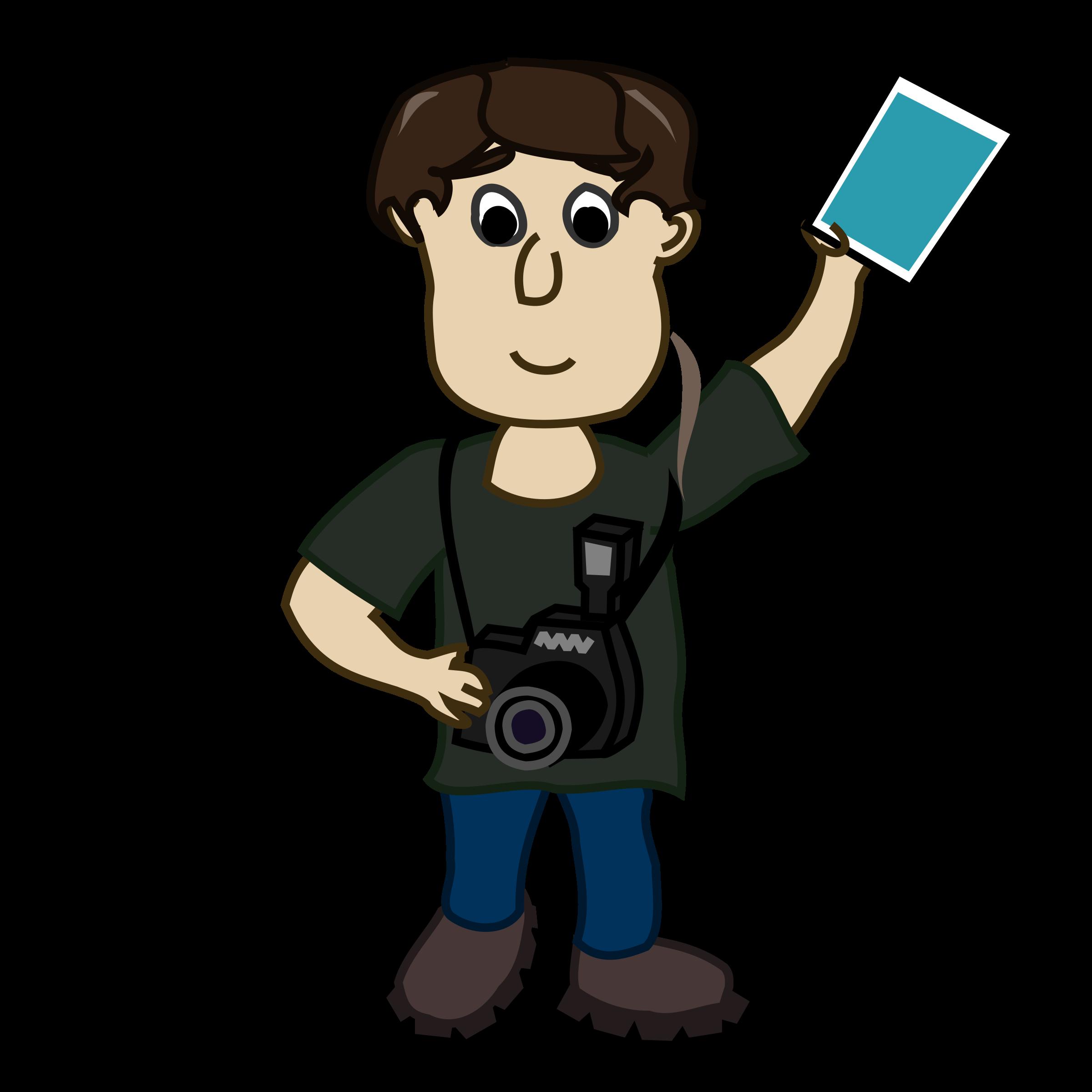Clipart children camera. Boy photographer big image