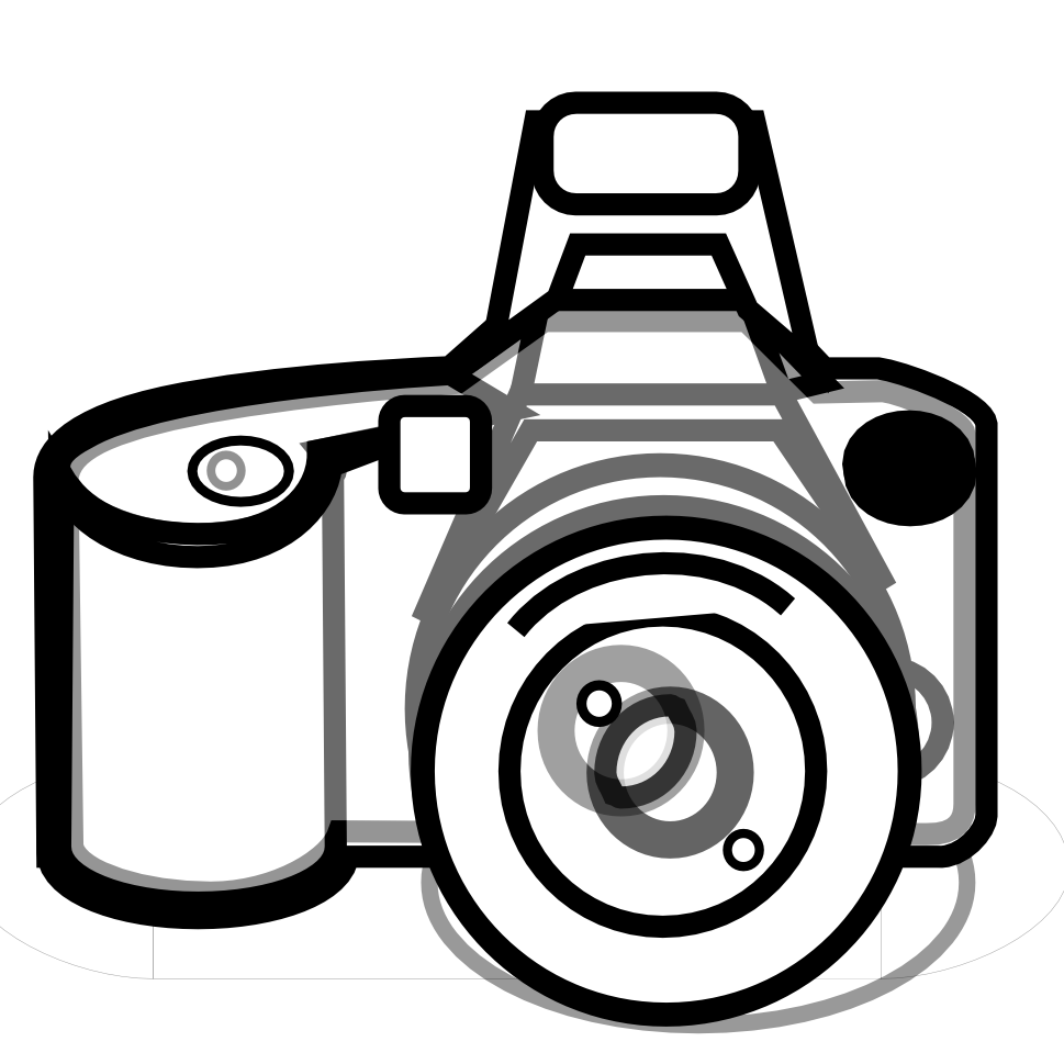 Camera clipart black and white. Photography free images clipartix
