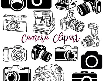 Etsy . Camera clip art retro camera