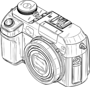 Digital at clker com. Camera clip art sketch