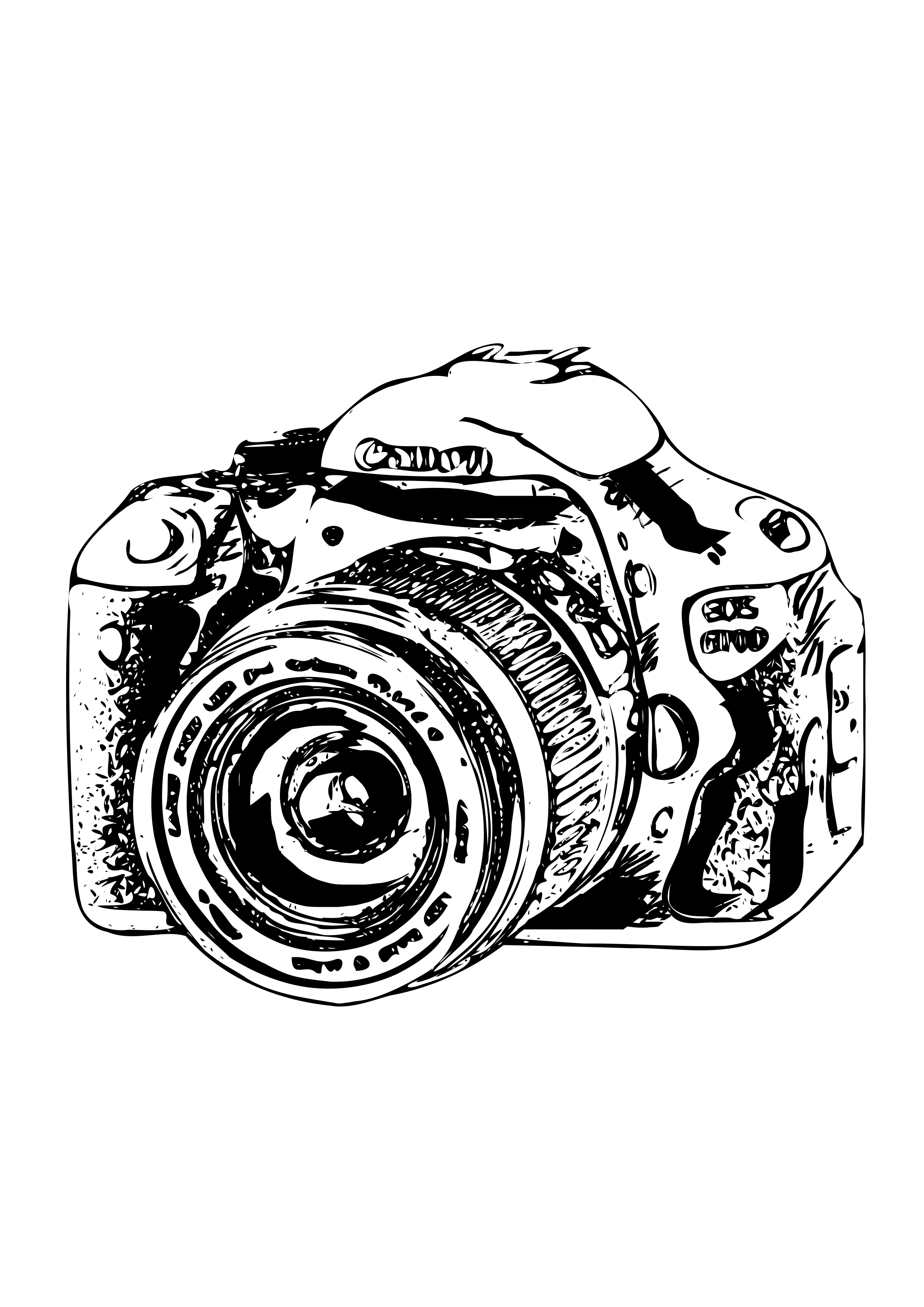 Camera clip art sketch. Clipart canon big image