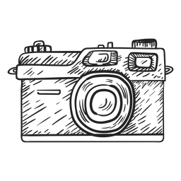 Transparent png or svg. Camera clip art sketch