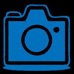 Camera clip art sketch. Blue icon png clipart