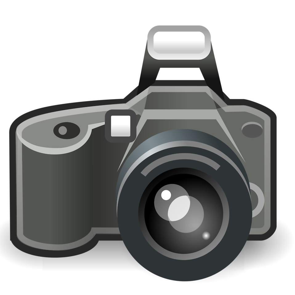 Camera clipart animated. Transparent background pencil and