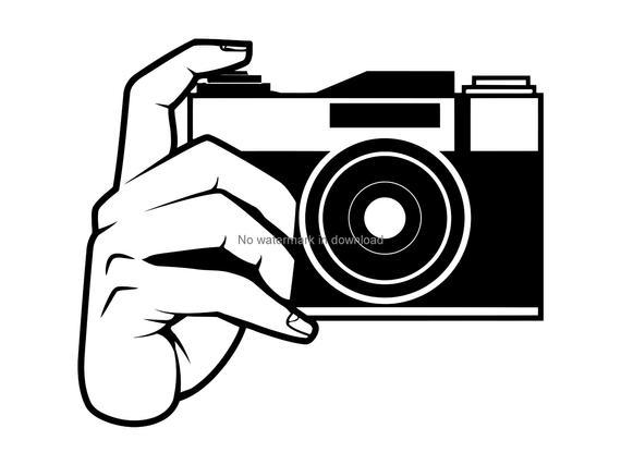 Camera clipart. Svg cutting file laser