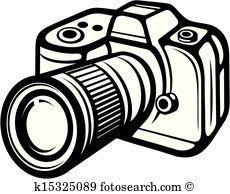 Camera clipart. Digital clip art vector
