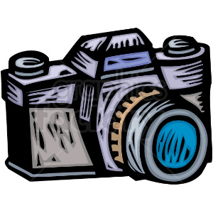 Camera clipart. A professional photographers royalty