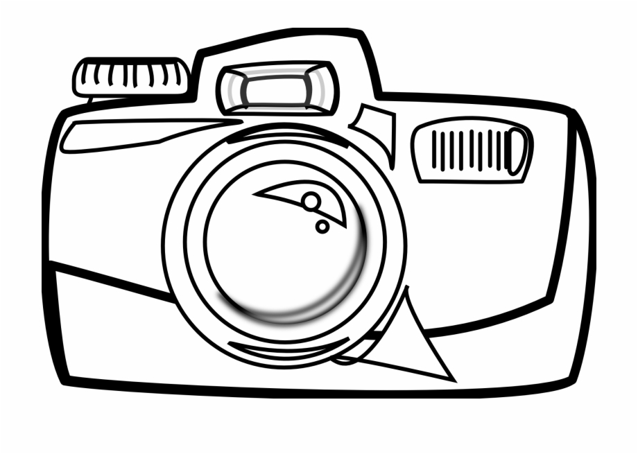 Png cam . Camera clipart black and white