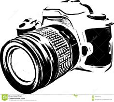 Free cricut cut files. Camera clipart black and white