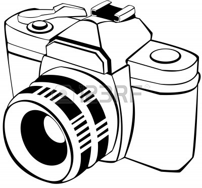 Digital panda free digitalcameraclipartblackandwhite. Camera clipart black and white