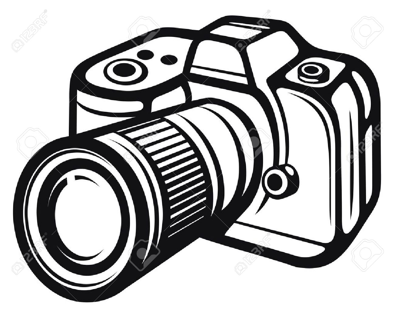 Camera clipart black and white. Free download best