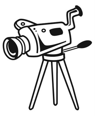 Free video download clip. Camera clipart camcorder