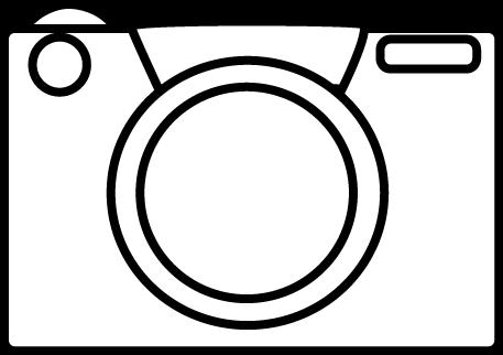 Black and White Camera Clip Art