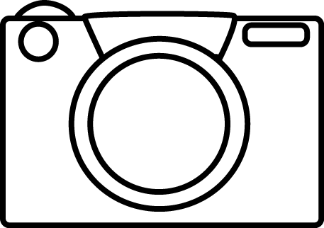 Black and white clip. Camera clipart camera frame