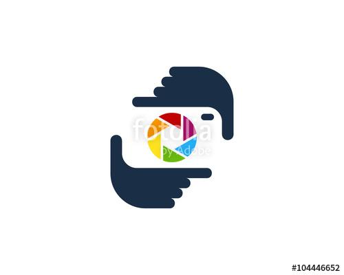 Photography logo design template. Camera clipart camera frame