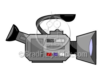 Video clip art graphics. Camera clipart cartoon