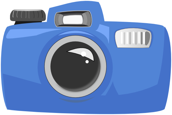Camera clipart cartoon.