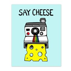 Camera clipart cheese. Illustration art quote smile