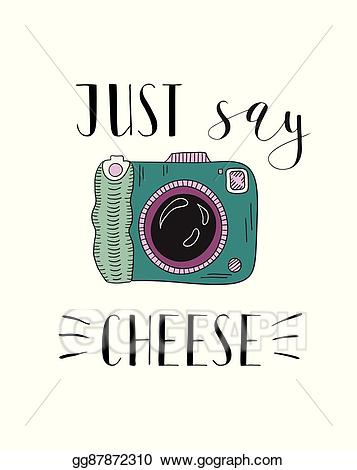 Vector illustration photo with. Camera clipart cheese