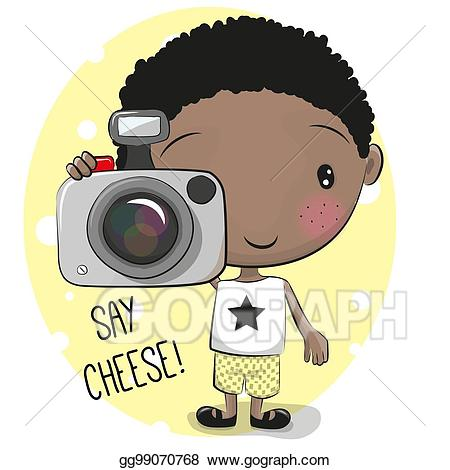 Camera clipart cheese. Vector art cute cartoon