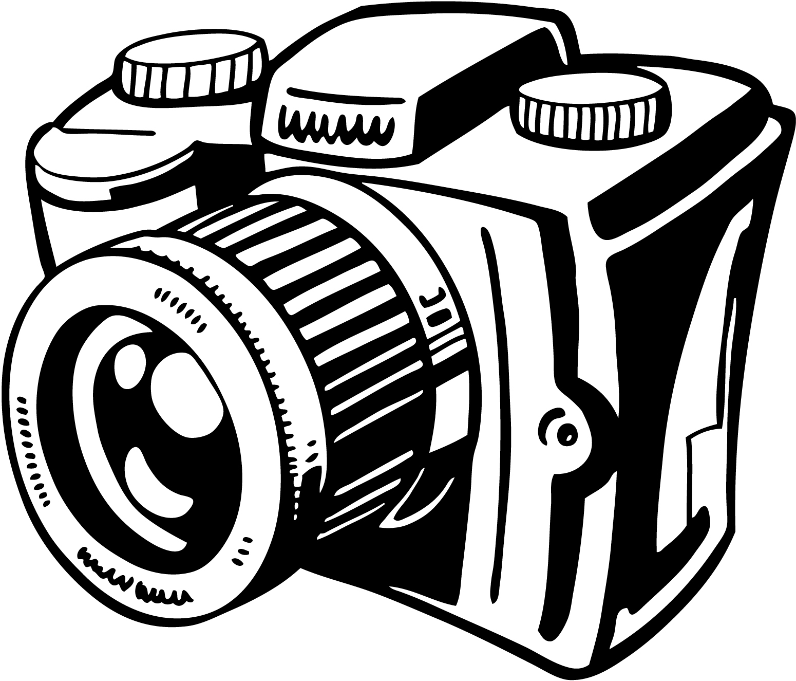 Unique design digital collection. Camera clipart clip art