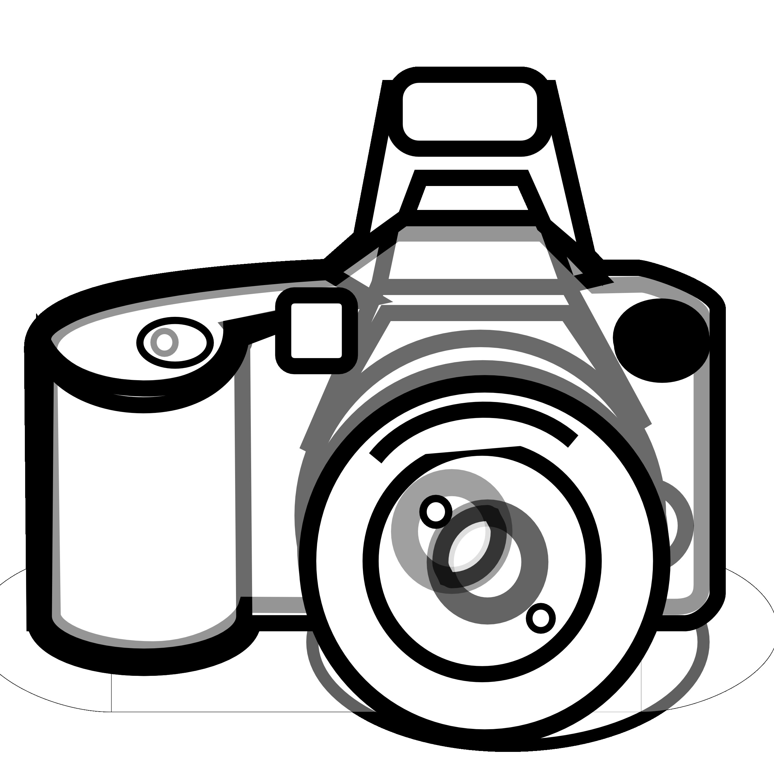 Black and white png. Camera clipart clip art
