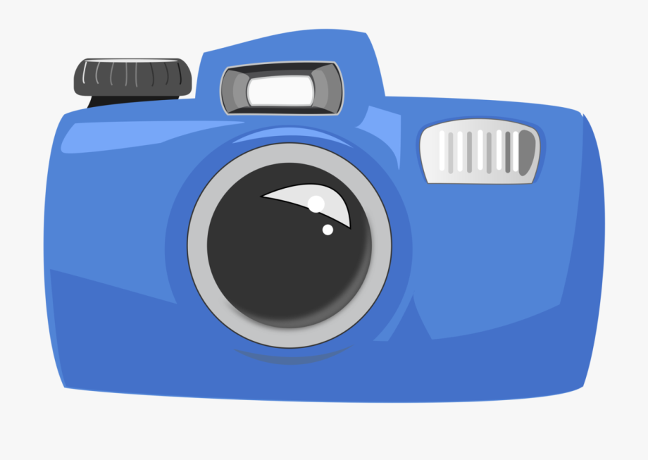 Cartoon large pixel . Camera clipart colored