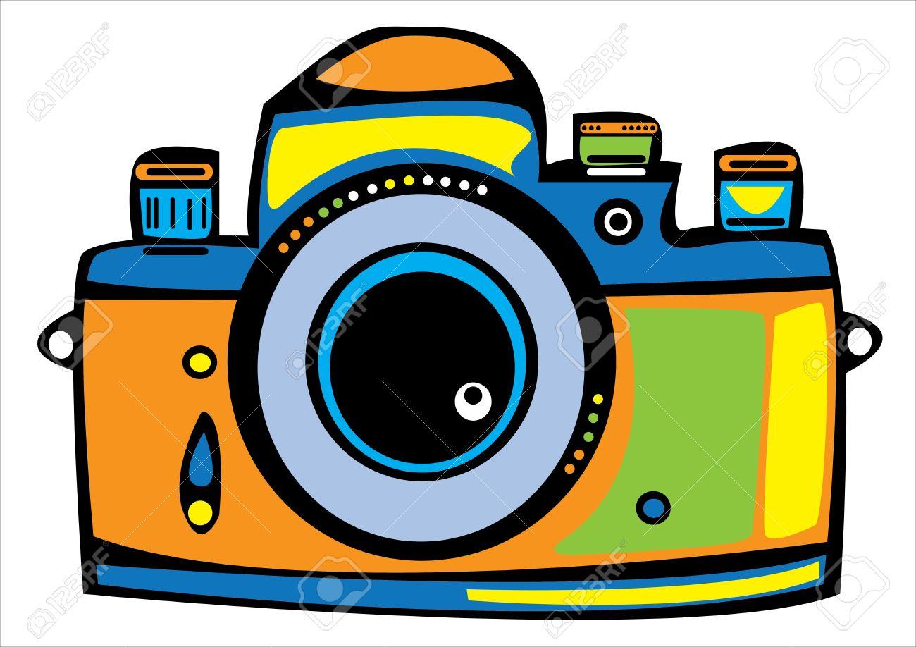 Camera clipart colored. Color