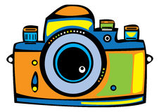 Colorful pencil and in. Camera clipart colored