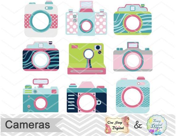 Camera clipart cute. Digital clip art photography