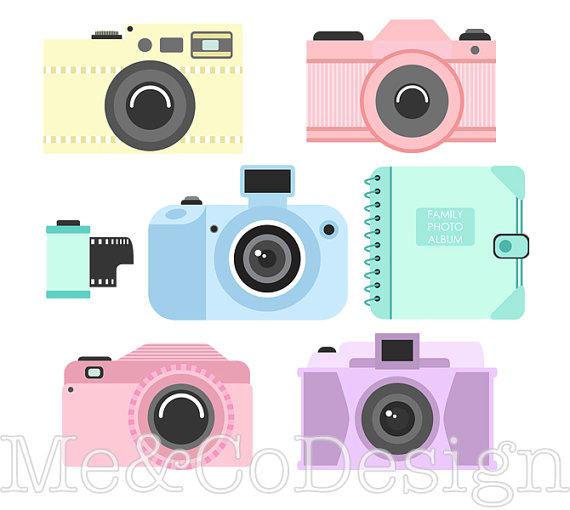 Camera clipart digital camera. Fun accessory instant download