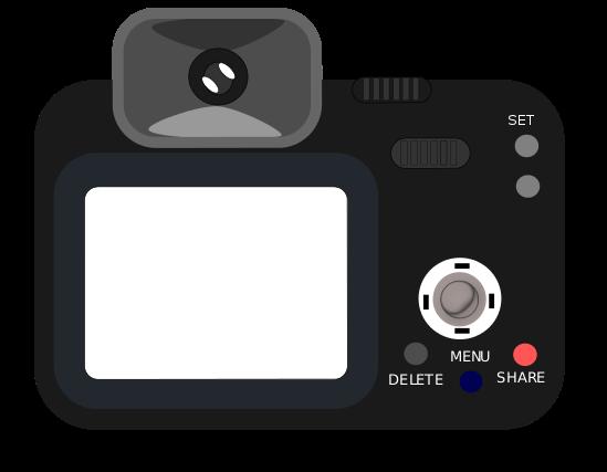 Free black clip panda. Camera clipart digital camera