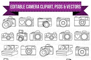 Photos graphics fonts themes. Clipart camera doodle