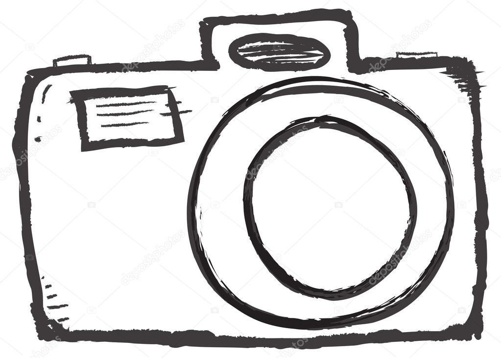 Camera clipart drawn. Free hand clipartmansion com