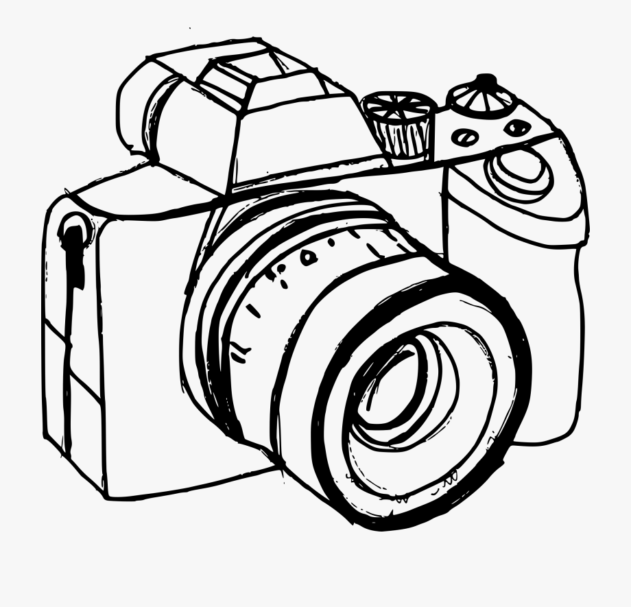 Camera clipart drawn. Symbol png drawing transparent