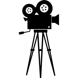 Camera clipart film camera. Old silhouette cliparts of