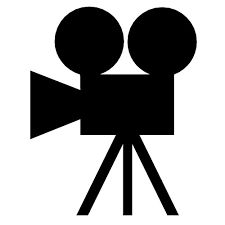 Action clipart documentary. Old camera silhouette cliparts