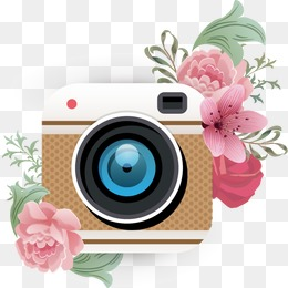 Camera clipart flower. Png vectors psd and