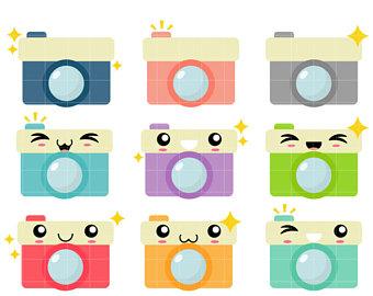 Illustration etsy cameras clip. Camera clipart kawaii