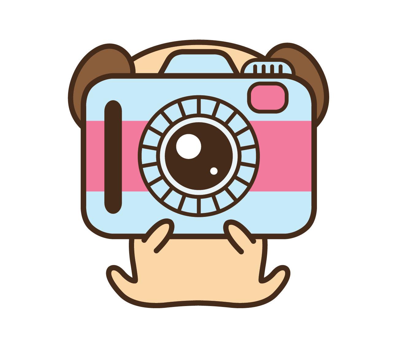 Camera clipart kawaii. Clip art pug hobby