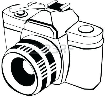 Camera clipart line art. Digital drawing at getdrawings