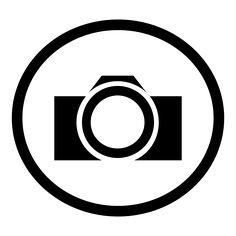 Digital clip art vector. Camera clipart logo