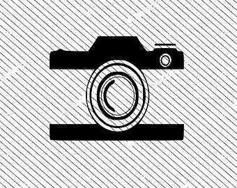 Etsy svg cut file. Camera clipart logo