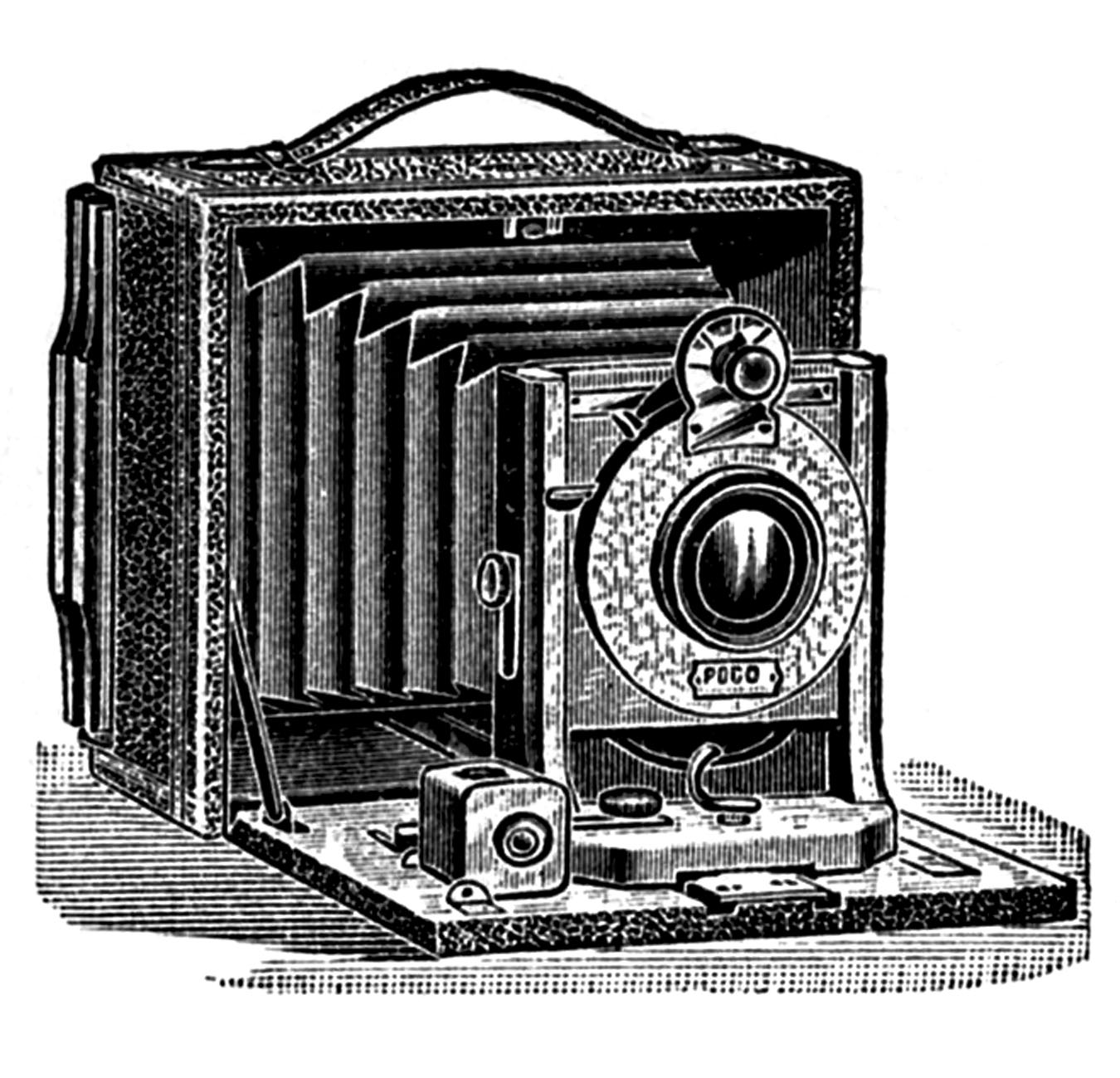 Antique pictures stereoscope ear. Camera clipart old fashioned