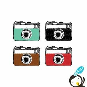 collection of vintage. Camera clipart old school